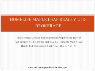 MLS Listings Oakville, Buy Homes, Condos and Investment Prop