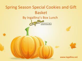 Spring Season Special Cookies and Gift Basket