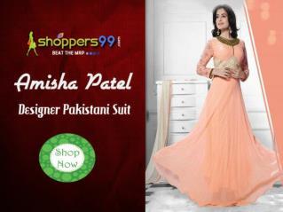 Latest Amisha Patel Designer Pakistani Suits