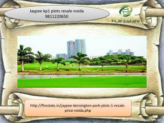 jaypee kp1 plots resale 9811220650, jaypee wishtown plots no