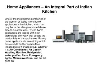 Home appliances  at very affordable price