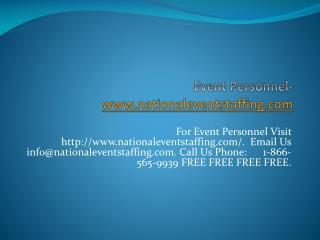 Event Personnel-www.nationaleventstaffing.com