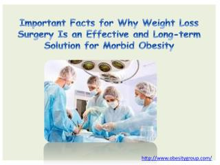 Important Facts for Why Weight Loss Surgery Is an Effective