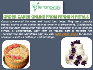 Order and Send Cakes Online From Ferns N Petals