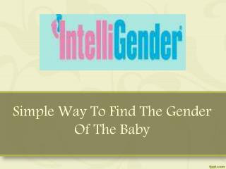 Simple Way To Find The Gender Of The Baby