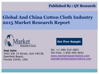 Global And China Cotton Cloth Industry 2015 Market Analysis