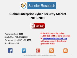 Global Enterprise Cyber Security Market 2015-2019