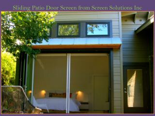 Sliding Patio Door Screen from Screen Solutions Inc