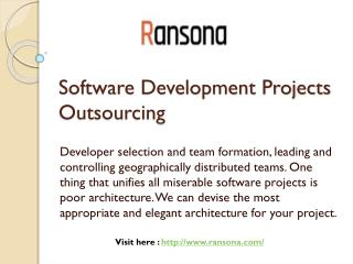 Software Development Projects Outsourcing