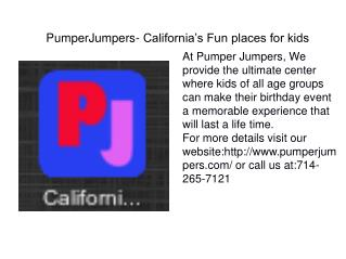 PumperJumpers- California's Fun places for kids
