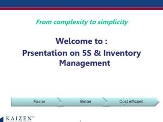 What is Inventory Management & 5S?