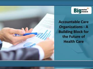 Development Of Accountable Care Organizations Market