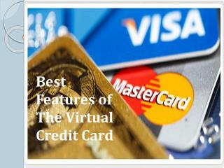 Best Features of the Virtual Credit Card