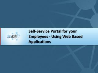 Self-Service Portal for your Employees