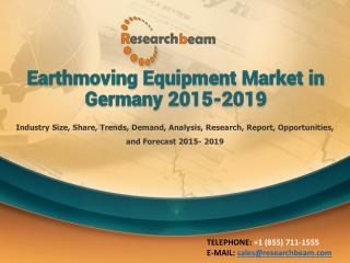Earthmoving Equipment Market in Germany 2015-2019