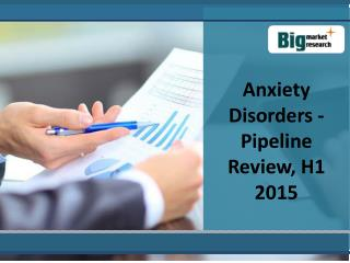Anxiety Disorders - Pipeline Review, H1 2015