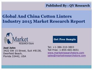 Global and China Cotton Linters Industry 2015 Market Outlook