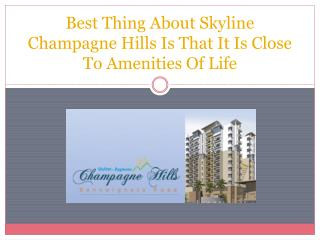 Best Thing About Skyline Champagne Hills Is That It Is Close