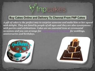 Buy and Order Cakes Online In Chennai From FNP Cakes