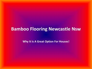 Bamboo Flooring Newcastle Nsw: Why It Is A Great Option For
