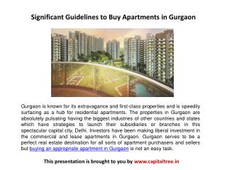 Significant Guidelines to Buy Apartments in Gurgaon