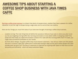 Awesome Tips About Starting A Coffee Shop Business With Java