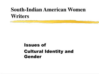 South-Indian American Women Writers