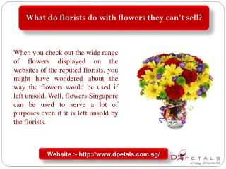 What do florists do with flowers they can't sell?