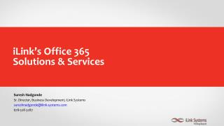 Office 365 Solutions and Services