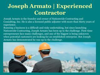 Joseph Armato | Experienced Contractor