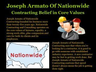 Joseph Armato Nationwide Contracting