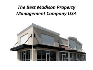 Best Madison Property Management Company USA