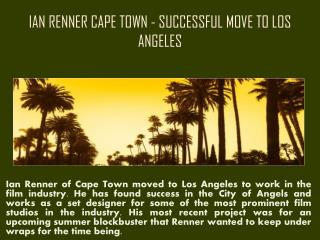Ian Renner Cape Town   Professional Designer