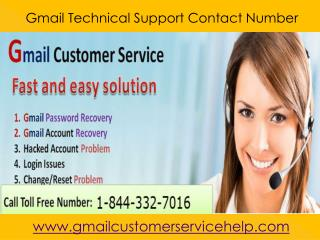 Gmail Customer Support 1-844-332-7016 Number