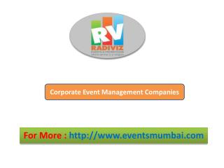 Corporate Event Management Companies
