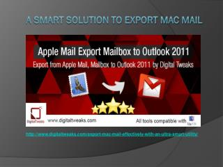 A Smart Solution to Export Mac Mail