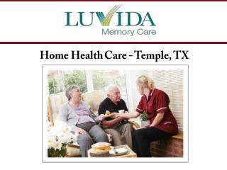 Home Health Care - Temple, TX