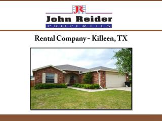 Rental Company- Killeen TX