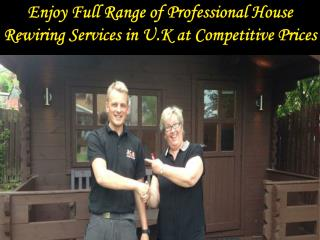 Professional House Rewiring Services in U.K