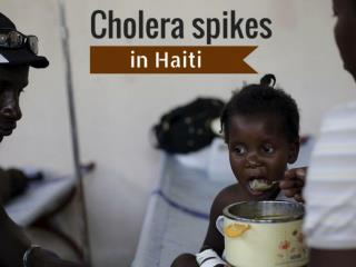 Cholera spikes in Haiti