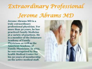 Jerome Abrams MD | Family Medicine of Smyrna-Clayton