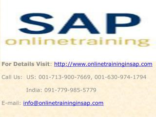 SAP XI Online Training and Placement - SAP XI DEMO - Online