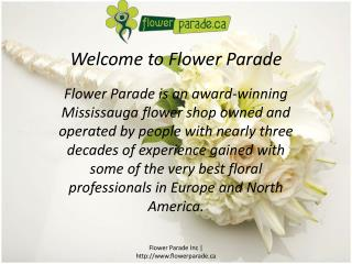 florists in Mississauga