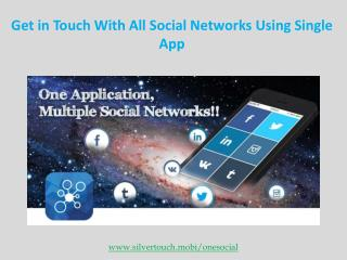 Social networking OneSocial Mobile App