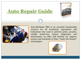 Car Repair Books