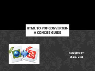 Html to Pdf converter- A concise Guide
