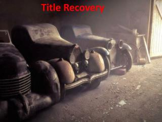 Title Recovery