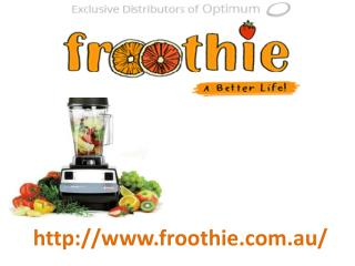 Globally Recognized Blenders by Froothie