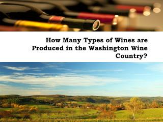 How Many Types of Wines are Produced in the Washington Wine