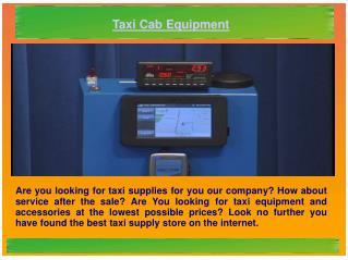 Taxi Cab Equipment